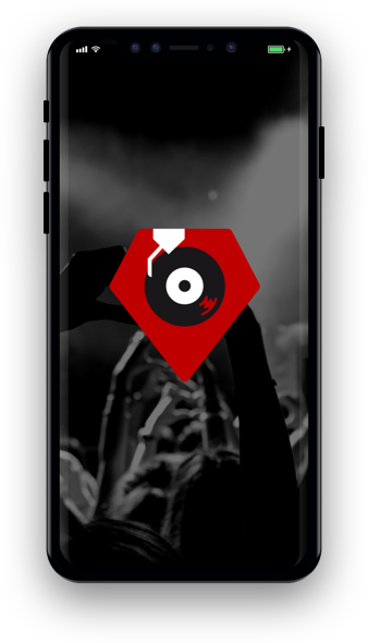 iphone with partymag logo